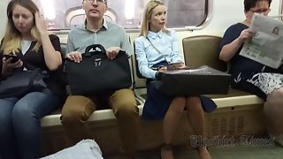 Ut_4058# I began to watch this blonde in the carriage. On the escalator, I stood behind her and went
