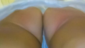 Ut_2596# Not a very tell well-tanned girl in a white sundress. Chic tanned butt and taut thighs in w
