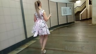 Ut_3587# To shoot a good upskirt, it is not necessary to stand on an escalator. Simply steps and a c