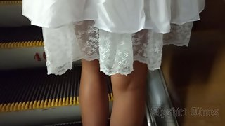 Ut_3792# A young girl, slender legs and a short skirt are the perfect set to make a good upskirt. An
