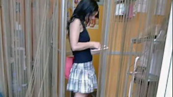 Ut_0980# Hot babe in short dress was found by me in the construction shop. I saw her heading for the