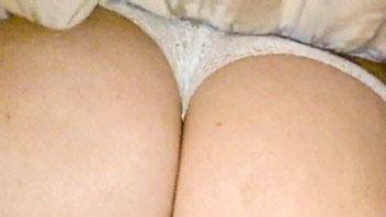 Ut_2894# Blonde girl in a short white dress. Our operator holding her long skirt lifted and filmed e
