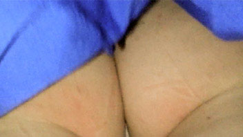Ut_2447# This girl in blue miniskirt attracted attention of the upskirt hunter immediately when he w