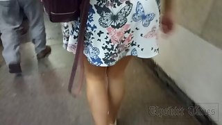 Ut_3787# Such a beauty in a short dress I could not miss by! I followed her to the escalator and too