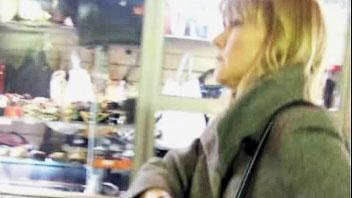 Ut_1004# Street upskirt is my hobby. It was Friday when I saw that slim blonde in black mini skirt.