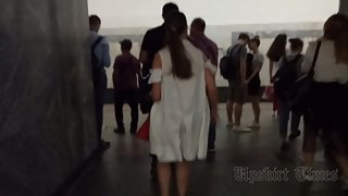 Ut_4500# Of course, I could not pass by this beauty in a white dress! I got up behind her and starte